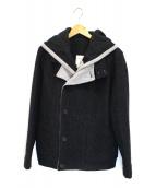 STEPHAN SCHNEIDER(ステファン・シュナイダー)の古着「ウールフーデッドジャケット」|ブラック