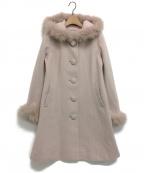 LAISSE PASSE(レッセパッセ)の古着「フード付Aラインコート」|ピンク