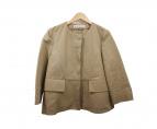 MARNI(マルニ)の古着「ノーカラージャケット」|キャメル