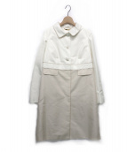 Harrods(ハロッズ)の古着「切り替えステンカラーコート」|アイボリー