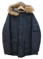 PHERROWS(フェローズ)の古着「フーデッドダウンコート」|ネイビー