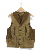 Stevenson Overall Co.(スティーブンソンオーバーオール)の古着「ハンティングベスト」|カーキ