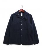 POST O'ALLS(ポストオーバーオールズ)の古着「メルトンエンジニアーズジャケット」|ネイビー