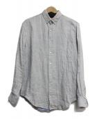 AMI Alexandre Mattiussi(アミ アレクサンドル マテュッシ)の古着「ボタンダウンリネンシャツ」|グレー