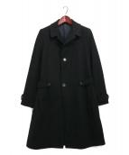 LANVIN(ランバン)の古着「ウールステンカラーコート」|ブラック