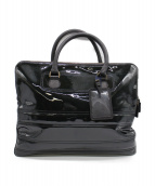 ()の古着「エナメルトートバッグ」|ブラック