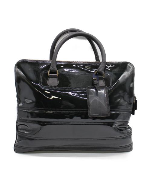 LANVIN(ランバン)LANVIN (ランバン) エナメルトートバッグ ブラックの古着・服飾アイテム