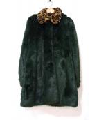 AINEA(アイネア)の古着「エコファーコート」|グリーン