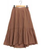 ANAYI(アナイ)の古着「ライトローンティアードスカート」|ブラウン