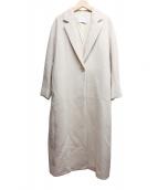 TIARA(ティアラ)の古着「ロングチェスターコート」 ベージュ
