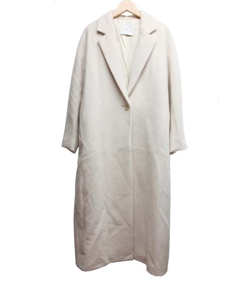 TIARA(ティアラ)TIARA (ティアラ) ロングチェスターコート ベージュ サイズ:2の古着・服飾アイテム