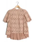 MUVEIL(ミュベール)の古着「ケミカルレースブラウス」|ピンク