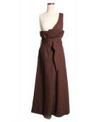 FRAY ID.(フレイアイディー)の古着「サロペットスカート」|ブラウン