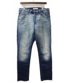 Yves Saint Laurent(イブサンローラン)の古着「カットオフデニムパンツ」|インディゴ
