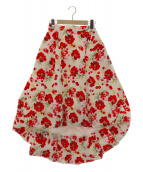 And Couture(アンドクチュール)の古着「チェリープリントタフタバルーンスカート」|ホワイト