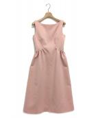 CELFORD(セルフォード)の古着「グログランワンピース」|ピンク