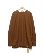 COLINA(コリーナ)の古着「Super140s Washable Wool Sweat」|ブラウン