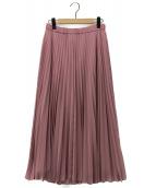 LEILIAN(レリアン)の古着「シアーシフォンプリーツスカート」 ピンク