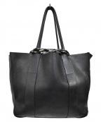 MUUN(ムーニュ)の古着「ニットミックスレザートートバッグ」|ブラック