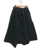 JUNYA WATANABE COMME des GARCON(ジュンヤワタナベ コムデギャルソン)の古着「18SS デザインスカート」|ブラック