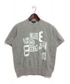 COMME des GARCONS HOMME(コムデギャルソンオム)の古着「19AW 再構築スウェットTシャツ」|グレー