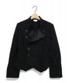 ARMANI COLLEZIONI(アルマーニコレツォーニ)の古着「ツイードジャケット」|ブラック