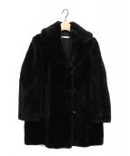 CARVEN(カルヴェン)の古着「フェイクファーコート」|ブラック