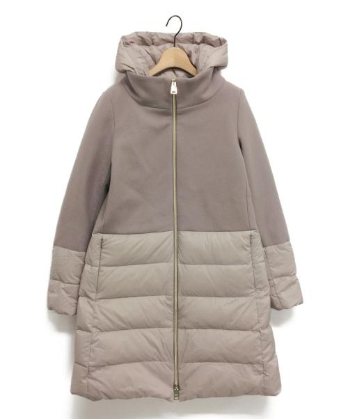 HERNO(ヘルノ)HERNO (ヘルノ) ウール切替ダウンコート ベージュ サイズ:42 未使用品の古着・服飾アイテム