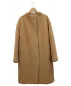 PLST(プラステ)の古着「カシミヤ混ビーバーボトルネックコート」|ベージュ