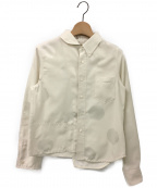 maturely(マチュアリー)の古着「Dot Joint Shirts / アシンメトリーシャツ」|アイボリー