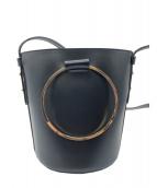 VIOLAdORO(ヴィオラドーロ)の古着「バケツ型トートバッグ」|ブラック
