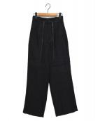 TICCA(ティッカ)の古着「タックパンツ」|ブラック