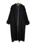 EN ROUTE(アンルート)の古着「ノーボタンミリタリーガウンコート」|ブラック