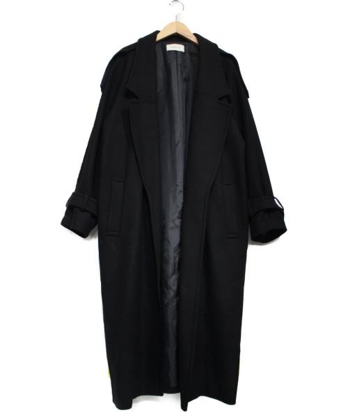 EN ROUTE(アンルート)EN ROUTE (アンルート) ノーボタンミリタリーガウンコート ブラック サイズ:2の古着・服飾アイテム