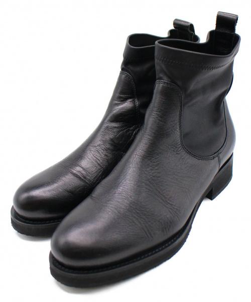 FABIO RUSCONI(ファビオルスコーニ)FABIO RUSCONI (ファビオルスコーニ) ブーツ ブラック サイズ:39の古着・服飾アイテム
