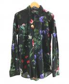 RUDE GALLERY(ルードギャラリー)の古着「花柄シャツ」 ブラック