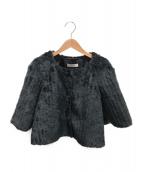PRADA(プラダ)の古着「フェイクファージャケット」|ブラック