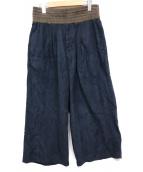 YANTOR(ヤントル)の古着「Suede Jarsey Wide Pants」|ブラック