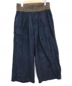 YANTOR(ヤントル)の古着「Suede Jarsey Wide Pants」 ブラック