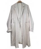 URU(ウル)の古着「Linen & Silk COAT」 ベージュ