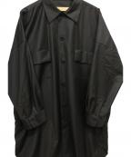 Robes&Confections(ローブスアンドコンフェクションズ)の古着「オーバーサイズシャツ」|ブラック