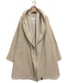 DOUBLE STANDARD CLOTHING(ダブルスタンダードクロージング)の古着「裏ボアオーバージャケット(コート)」 ベージュ