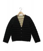 Demi-Luxe BEAMS(デミルクスビームス)の古着「リバーシブルダウンブルゾン」|ブラック×ベージュ