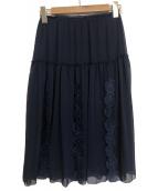SEE BY CHLOE(シーバイクロエ)の古着「スカート」|ネイビー