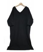 nagonstans(ナゴンスタンス)の古着「半袖ワンピース」|ブラック