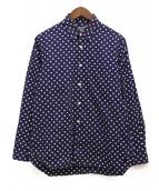 GOOD DESIGN SHOP COMME des GARCONS(グッドデザインショップ コムデギャルソン)の古着「ドット柄コットンシャツ」|ネイビー