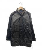 sisii(シシ)の古着「レザーM65ジャケット」|ブラック