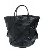 BOTTEGA VENETA(ボッテガヴェネタ)の古着「パイソン切替トートバッグ」|ブラック