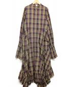 ELIN(エリン)の古着「パフスリーブシャツドレス」