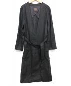 Demi-Luxe BEAMS(デミルクスビームス)の古着「リネンキャンバスコート」 ブラック
